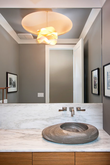 Contemporary Powder Room by MAY designs