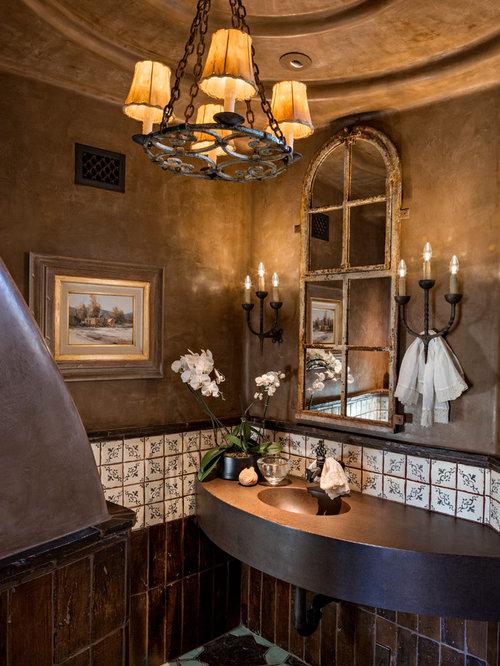 mediterrane g stetoilette g ste wc mit kupfer waschbecken waschtisch ideen f r g stebad und. Black Bedroom Furniture Sets. Home Design Ideas