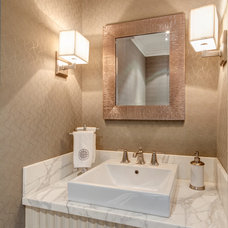 Traditional Powder Room by Frahm Interiors - Burlington ON