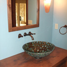Eclectic Powder Room by L.EvansDesignGroup,inc