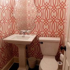 Contemporary Powder Room by Catherine Boardman Interiors