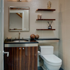 Contemporary Powder Room by Kitchen Encounters