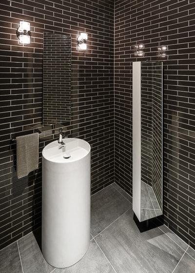 8 motivi per amare il bianco e il nero anche in un piccolo bagno - Bagni piccolissimi progetti ...
