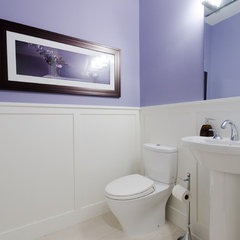 traditional powder room by Blackfish Homes Ltd.