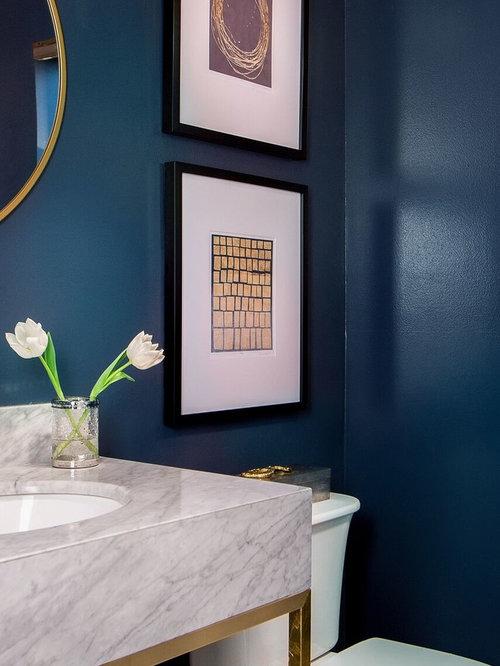 blaue g stetoilette g ste wc mit marmor waschtisch. Black Bedroom Furniture Sets. Home Design Ideas