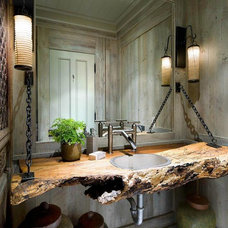 Rustic Powder Room by Hull Plumbing