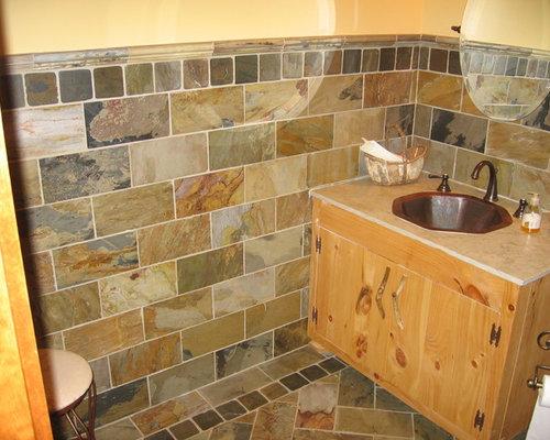 Foto e idee per bagni di servizio bagno di servizio con piastrelle