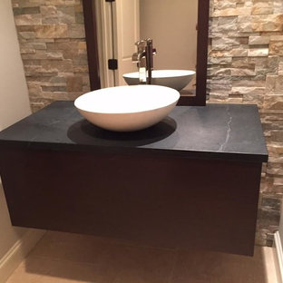 50 Contemporary Powder Room with Soapstone Countertops Design Ideas on polished soapstone, dorado soapstone, mariana soapstone,