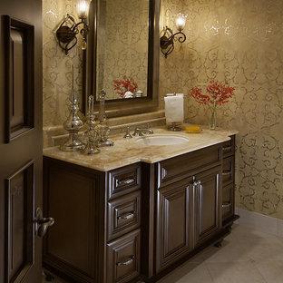 Powder room - traditional powder room idea in Phoenix