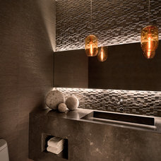 Contemporary Powder Room by Ownby Design