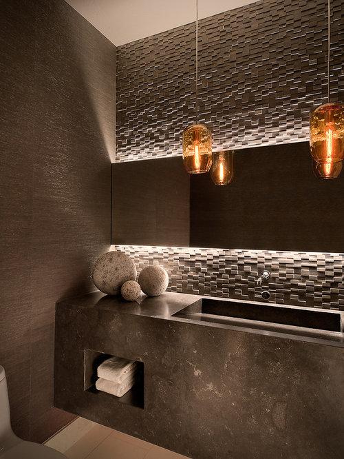 g stetoilette g ste wc mit steinfliesen modern ideen. Black Bedroom Furniture Sets. Home Design Ideas