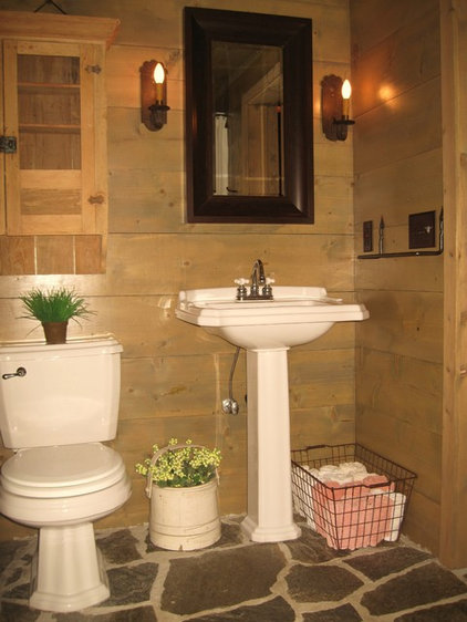 Traditional Powder Room by Lands End Development - Designers & Builders