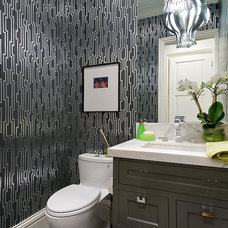 Contemporary Powder Room by Rico's General Construction Inc.