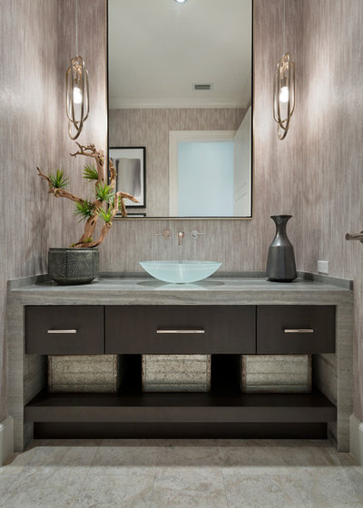 Transitional Powder Room by Insignia Design Group Llc