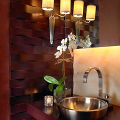 contemporary powder room by alene workman interior design, inc