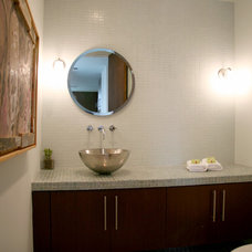Contemporary Powder Room by Lori Dennis, ASID, LEED AP