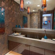 Contemporary Powder Room by Sandella Custom Interiors, LLC
