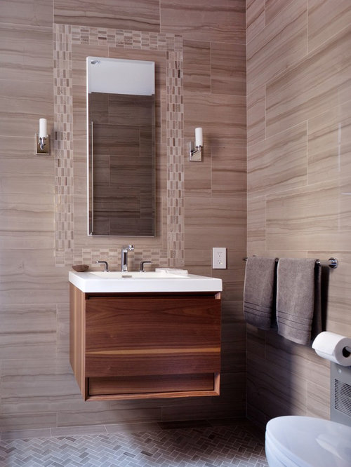 1 005 powder room with porcelain tile design ideas - Powder room tile ideas ...