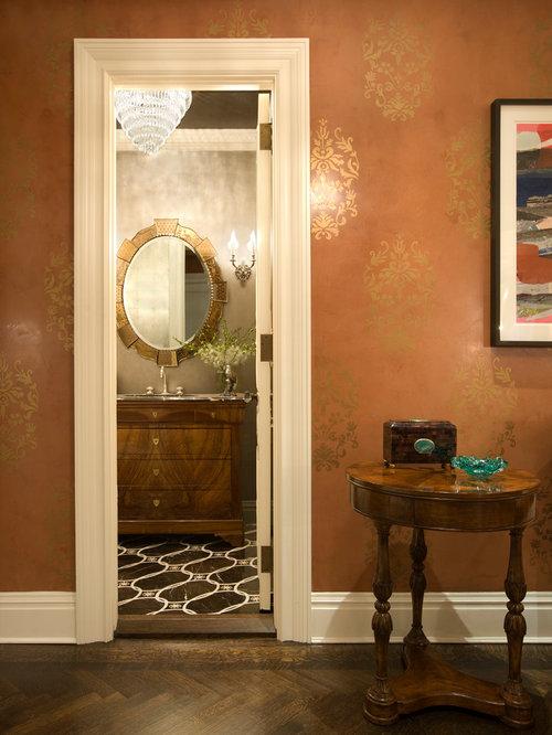 Powder Room Stencil Home Design Ideas Pictures Remodel