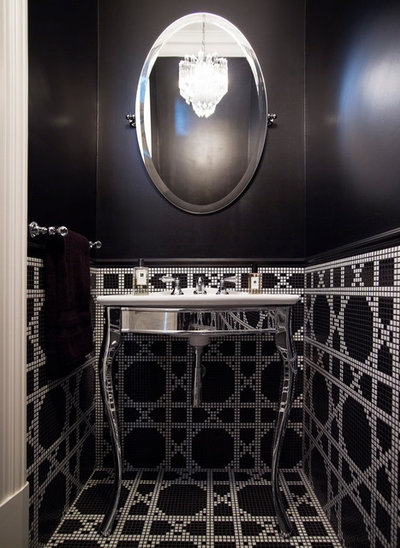 American Traditional Powder Room by Hancock Architects