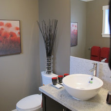 Contemporary Powder Room by Tien Sher Homes