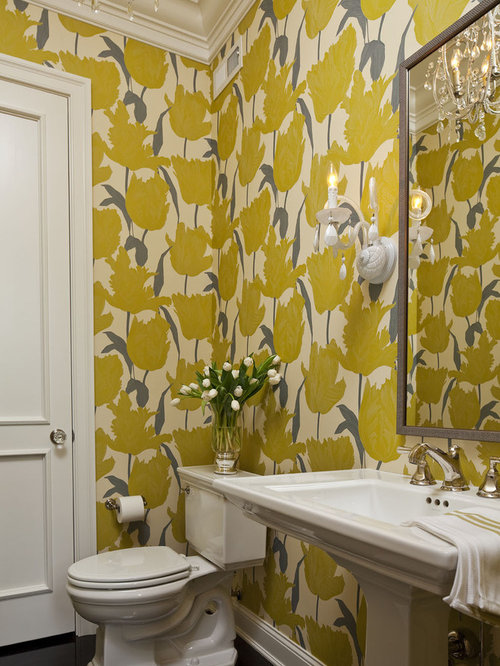 SaveEmail. Best Wallpaper Powder Room Design Ideas  amp  Remodel Pictures   Houzz