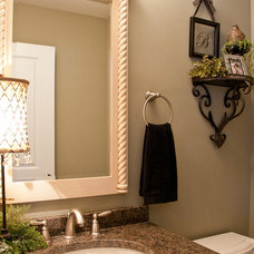 Traditional Powder Room by River Oak Cabinetry & Design