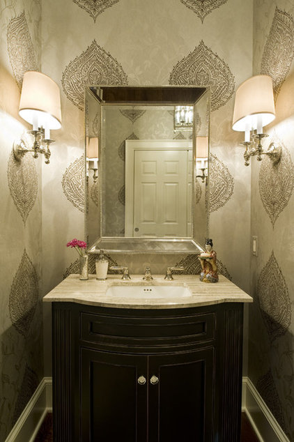 Traditional Powder Room by Dewson Construction Company