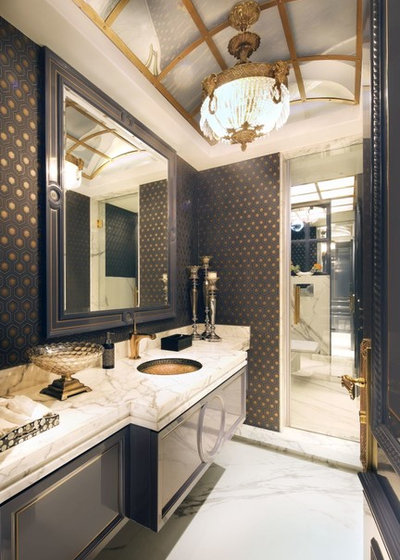 American Traditional Powder Room by ACDS