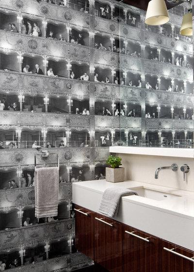 Modern Gästetoilette by Lisa Stevens & Company, Inc.