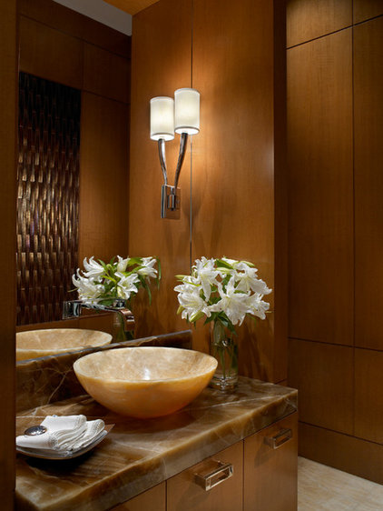 Traditional Powder Room by alene workman interior design, inc