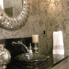 Traditional Powder Room by Kathleen Tapping Decor