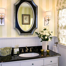 Traditional Powder Room by Nancy Lucas, Decorating Den Interiors, Sea Girt NJ