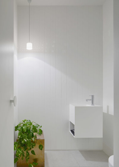 Contemporary Powder Room by NORTHBOURNE Architecture + Design