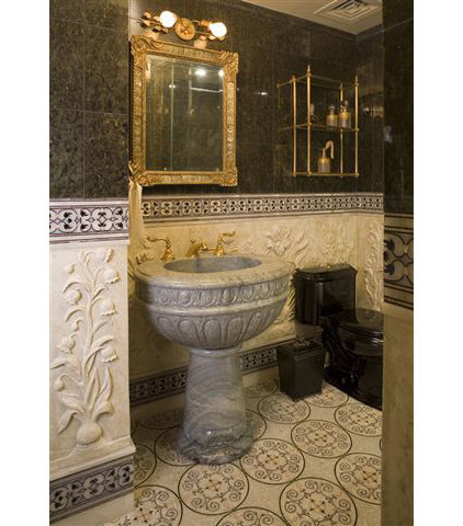 Traditional Powder Room by Peter S. Balsam Associates