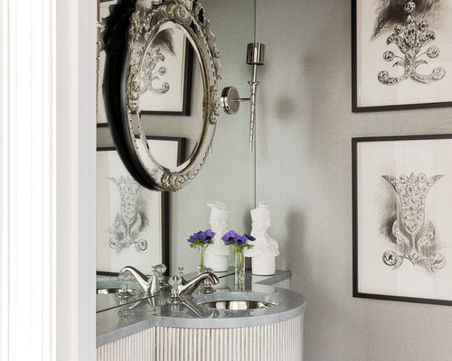 Round Silver Mirrors Home Design Ideas Pictures Remodel