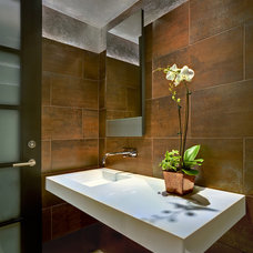 Contemporary Powder Room by John Senhauser Architects
