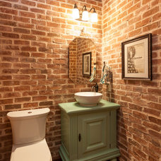 Rustic Powder Room by Connie Anderson Photography
