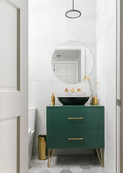 Contemporary Powder Room by Joshua Alan Interiors