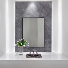 Contemporary Powder Room by Pacific Peninsula Group