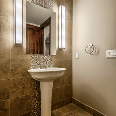 Traditional Powder Room by Augusten Muller Homes
