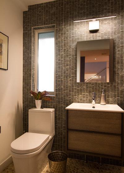 Modern Powder Room by Princeton Design Collaborative