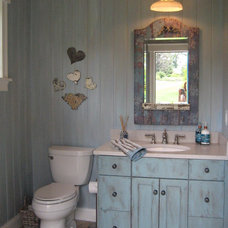 Eclectic Powder Room by Creative Interiors by Kim