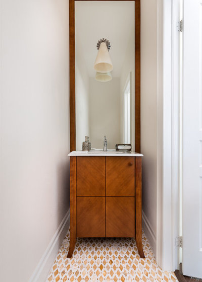 Transitional Powder Room by Toronto Interior Design Group | Yanic Simard