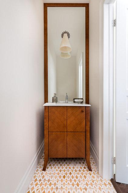 Transitional Powder Room by Toronto Interior Design Group | Yanic Simard