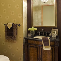 traditional powder room by Artful Styles, Inc.