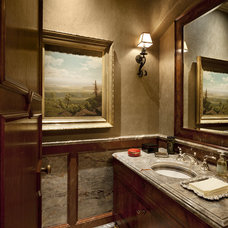 Traditional Powder Room by Jennifer Bevan Interiors