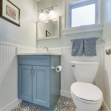 Portland Basement and half bathroom