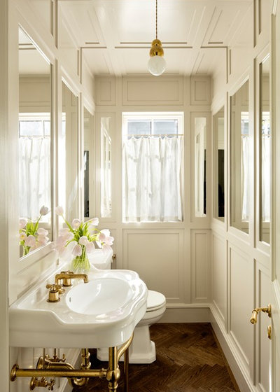 Transitional Powder Room by The Works