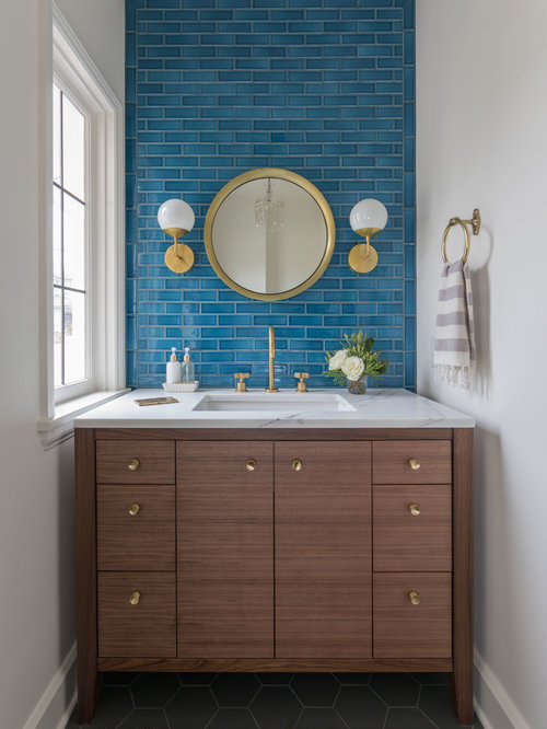 Top 20 Powder Room With Subway Tile Ideas Amp Photos Houzz